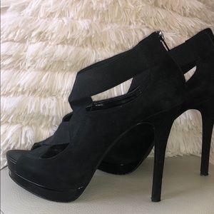 Jessica Simpson Black Suede Peep Toe Heel🖤